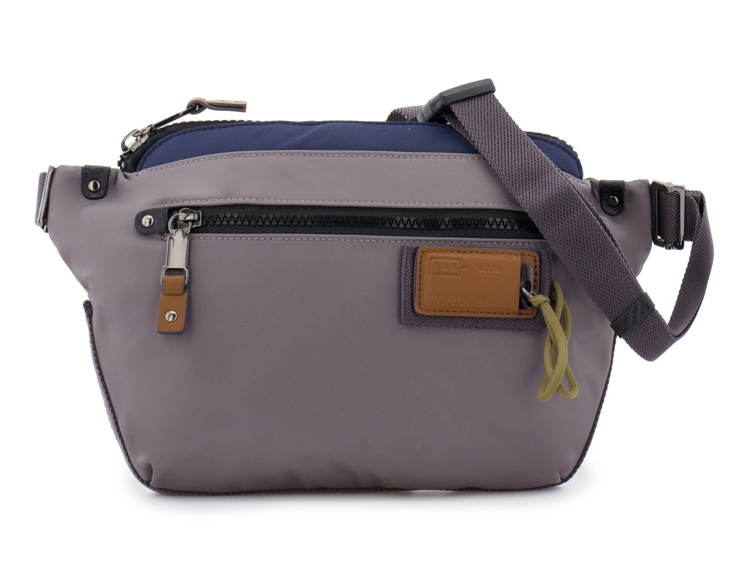 Polyester waist bag in gray front