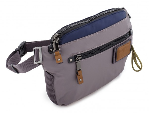 Polyester waist bag in gray side
