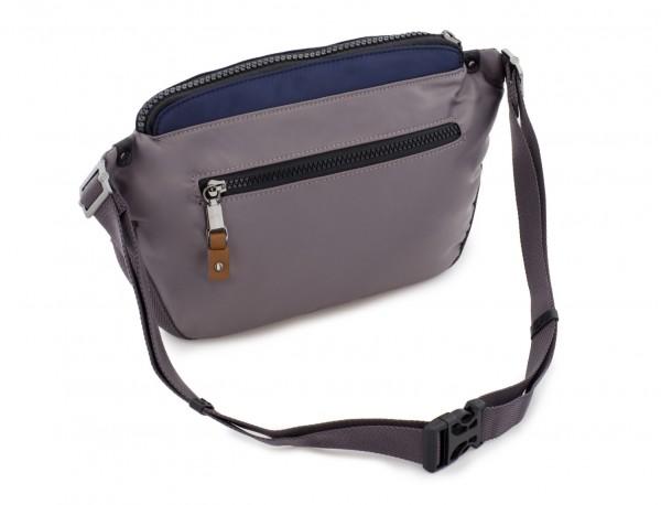 Polyester waist bag in gray back