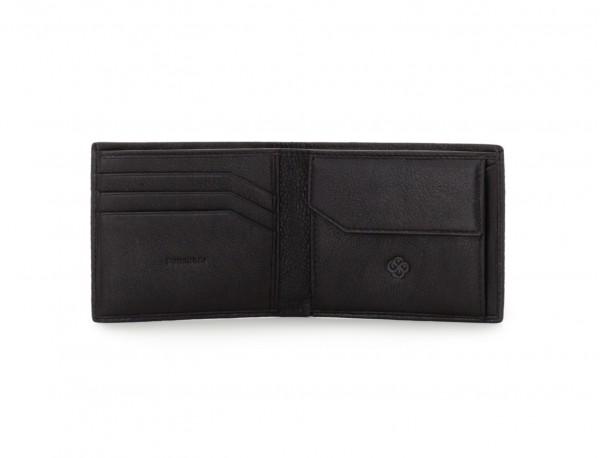 mini portafoglio in pelle nero open