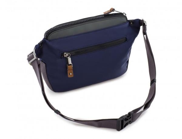 Polyester waist bag in blue back
