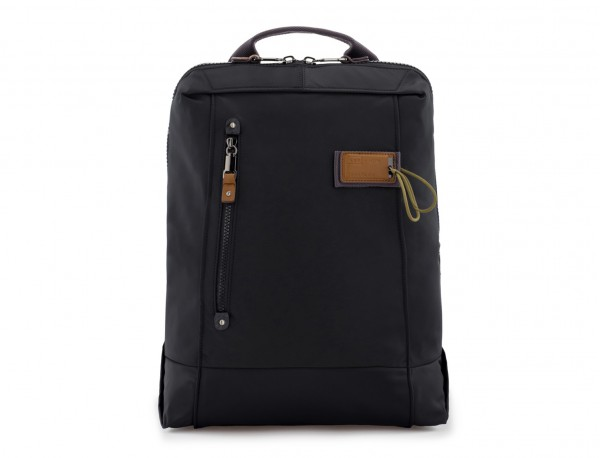 backpack in black front