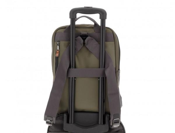 backpack in green trolley