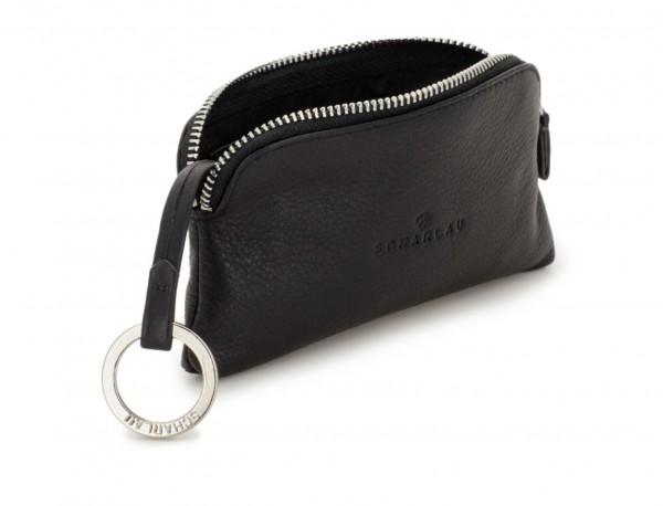 leather key holder wallet open