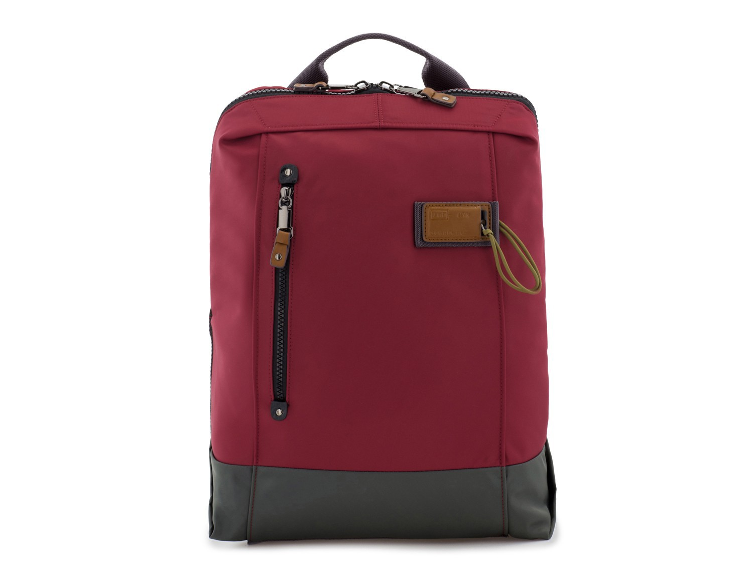 backpack in red front