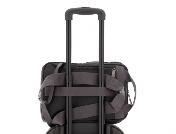 small backpack in black trolley