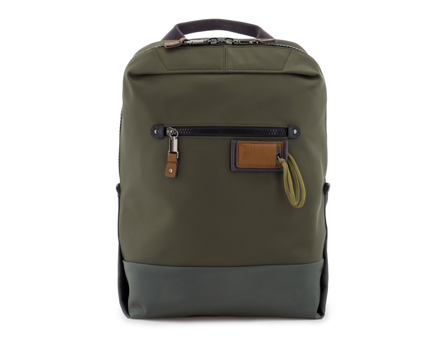 small backpack in green front