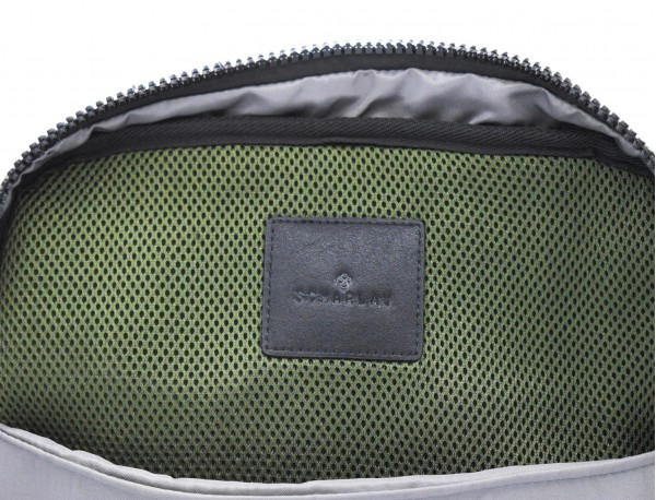 small backpack in green inside