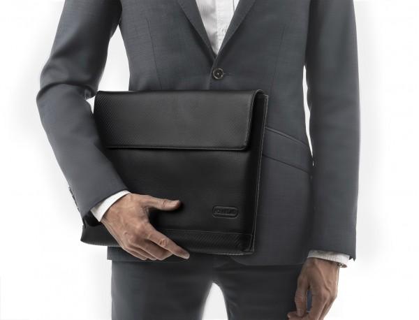 Custodia per computer da 13,3 pollici in pelle in nero model