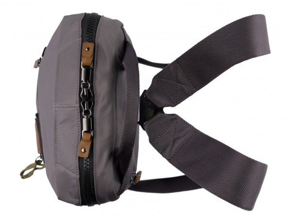 small backpack in gray up
