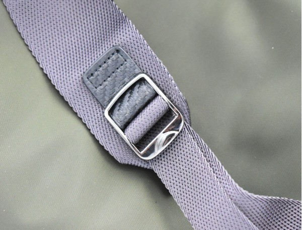 small backpack in gray detail