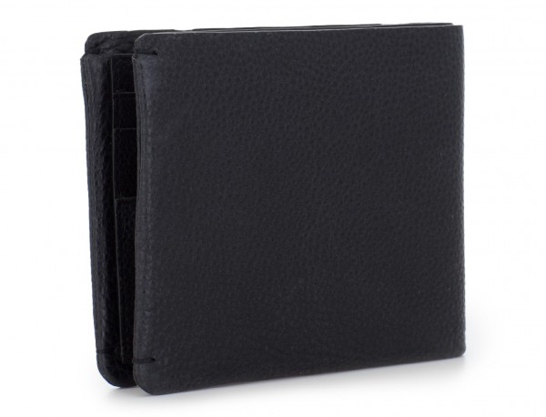 leather Wallet with coin pocket black back