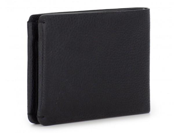 billetero de piel para tarjetas negro detrás
