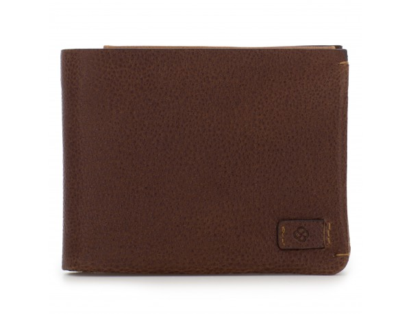leather wallet with card holder brown front