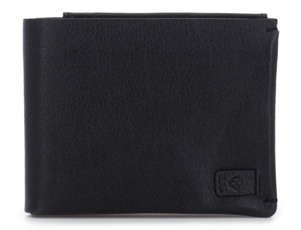 leather wallet with card holder black front