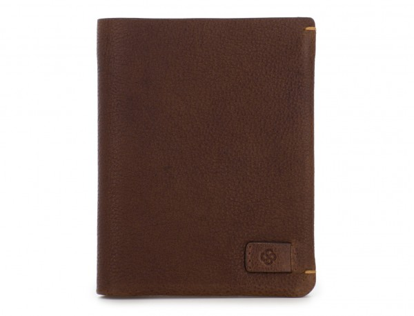 vertical wallet with card holder brown front