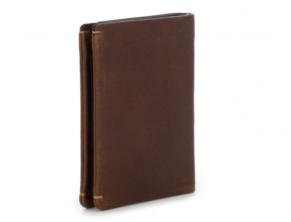vertical wallet with card holder brown side