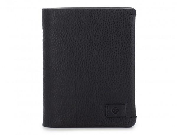 vertical wallet with card holder black front