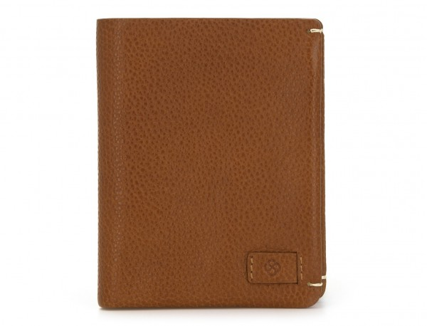 vertical wallet with card holder light brown front
