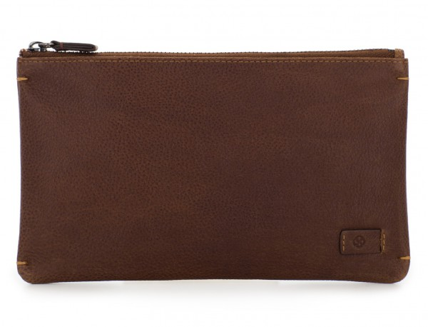 leather mask cover brown front