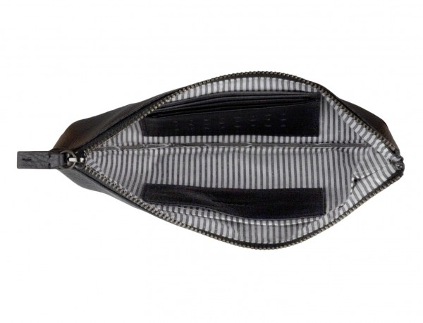 leather mask cover black open