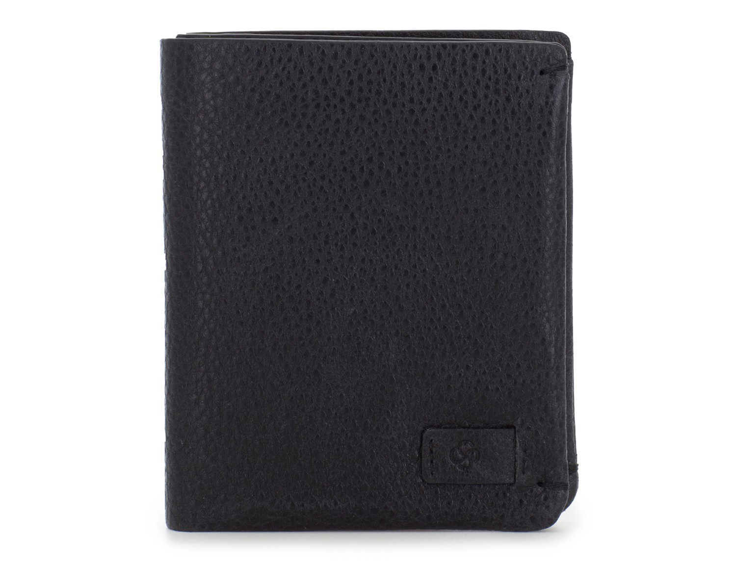 Small leather men wallet black front