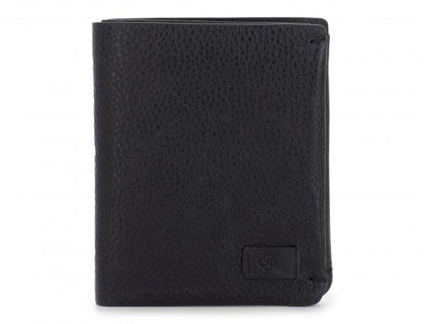Piccolo portafoglio porta carte in pelle black front
