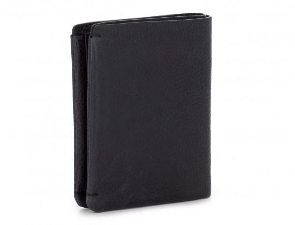 Small leather men wallet black side