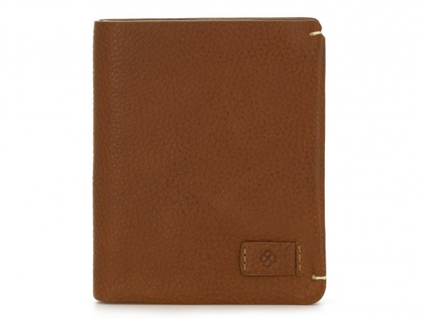 Small leather men wallet light brown front