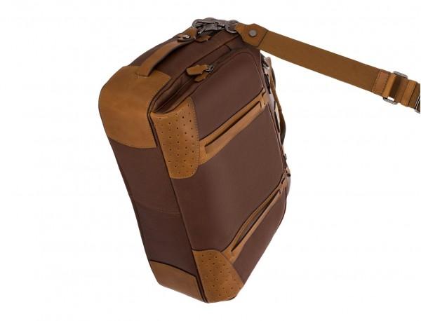 maletín grande de hombre de cuero marrón base