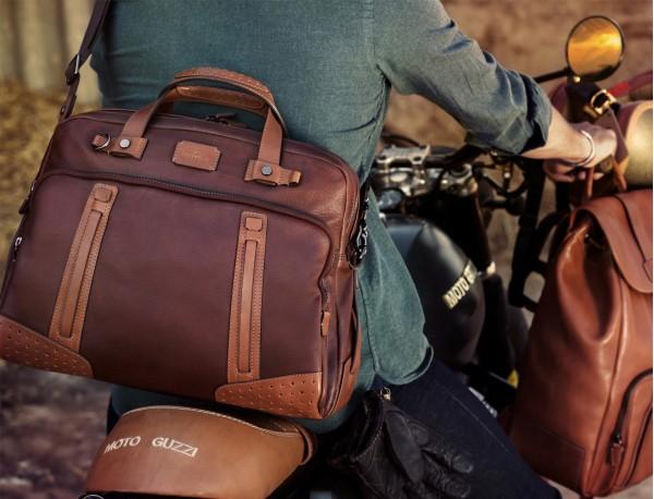 maletín grande de hombre de cuero marrón modelo