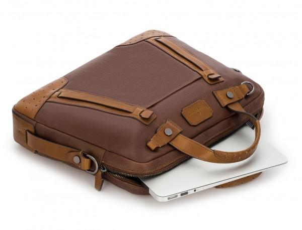 leather vintage laptop bag brown computer