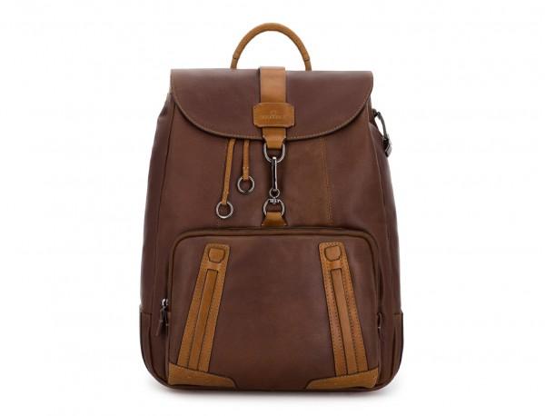 leather vintage backpack brown front