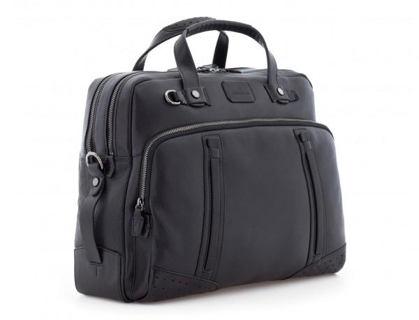leather vintage briefbag black side
