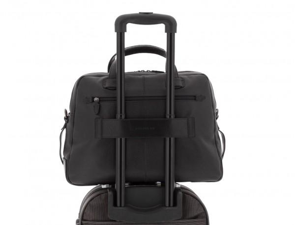 leather vintage briefbag black trolley
