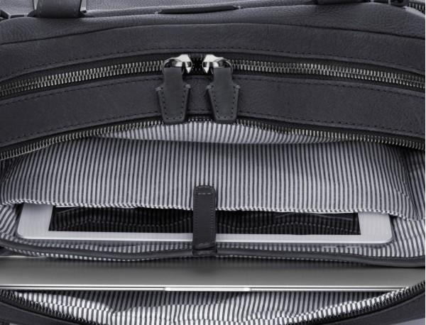 leather vintage briefbag black computer