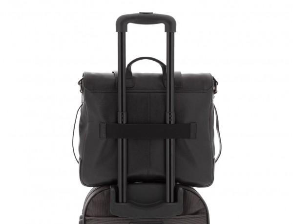 leather messenger bag vintage black trolley