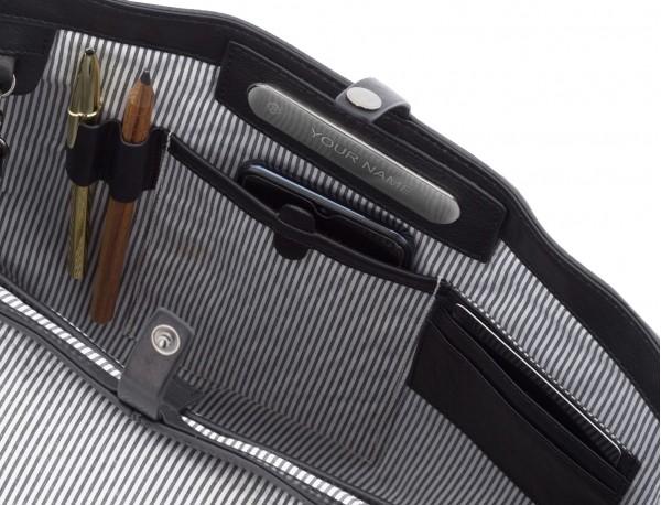 bolso mensajero de cuero vintage negro personalizado