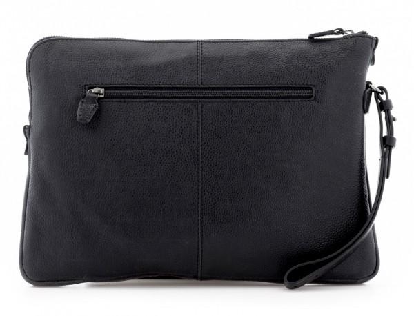 leather portfolio vintage black  back