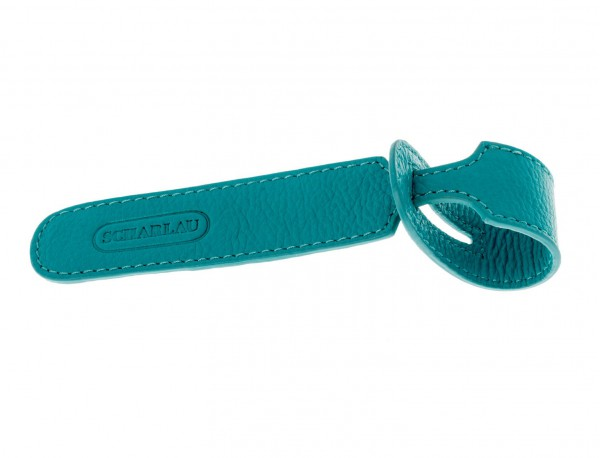 luggage recognition tags in turquoise