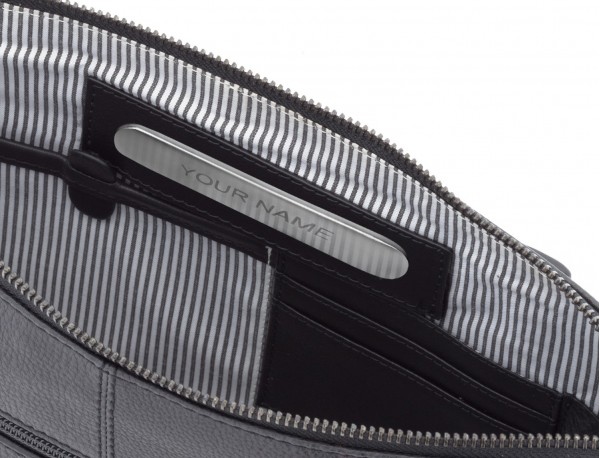 leather portfolio vintage black  personalized
