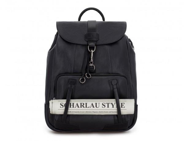 leather vintage backpack black detail
