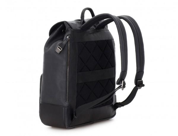 leather vintage backpack black back