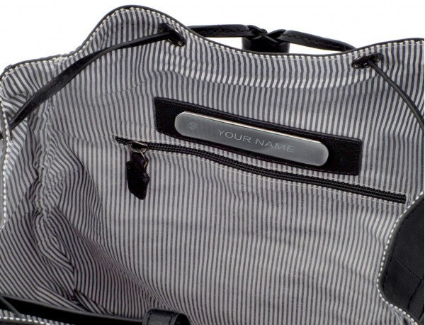 mochila de piel vintage negra  personalizada