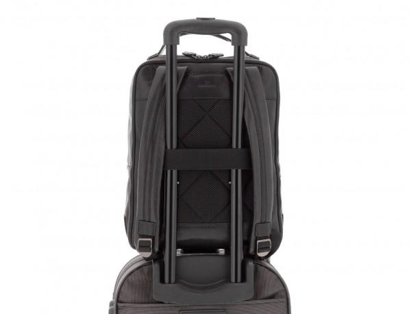 leather vintage backpack black trolley