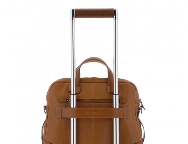 maletín grande de hombre de cuero camel trolley