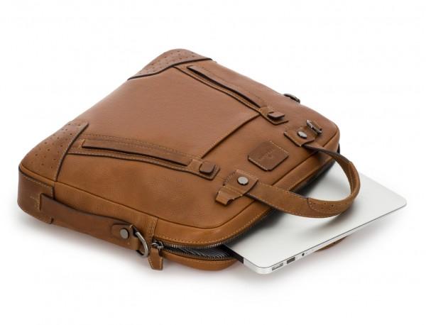 leather vintage laptop bag light brown computer