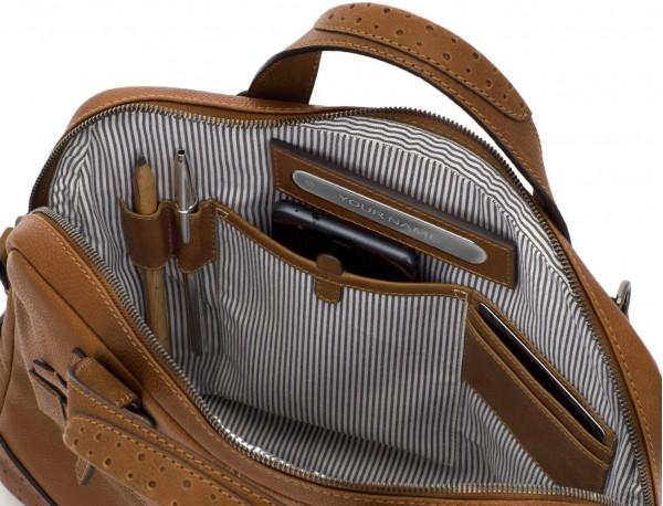 portadocumentos de cuero vintage marrón claro personalizado
