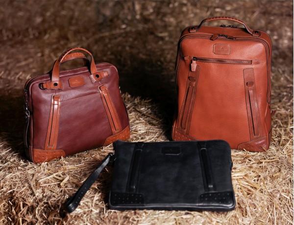 portadocumentos de piel vintage marrón claro modelo