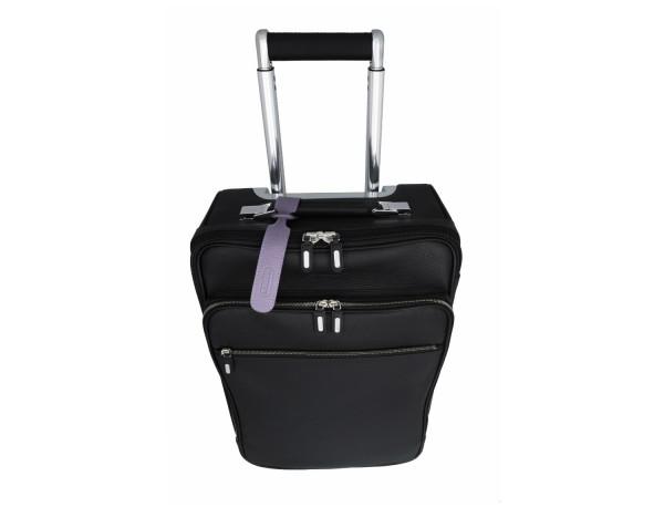 identificador de maletas en cuero color Lila lifestyle